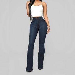 Forever21 Long Dark wash wide leg jeans